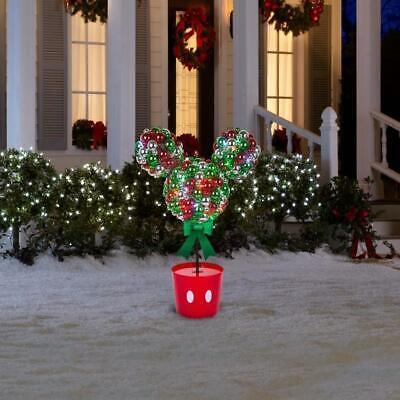 Disney Magic Holiday Mickey Mouse Lighted LED Topiary Tree 3.2 Feet -