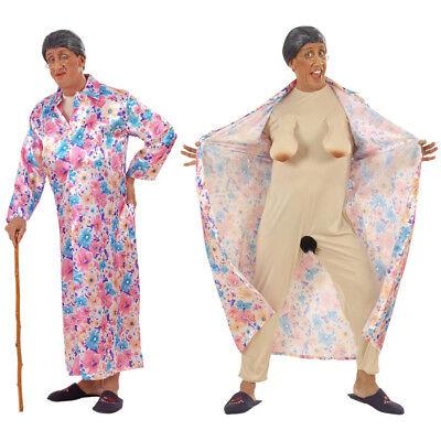 M # Karneval Herren Entblößer Exhibitionisten Alte Frau 5599 (Oma Kostüm)