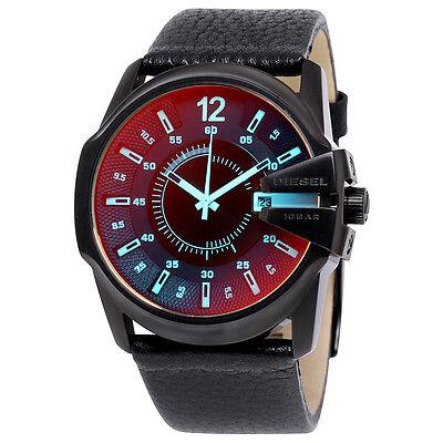Diesel Timeframe Iridescent Dial Leather Mens Watch DZ1657