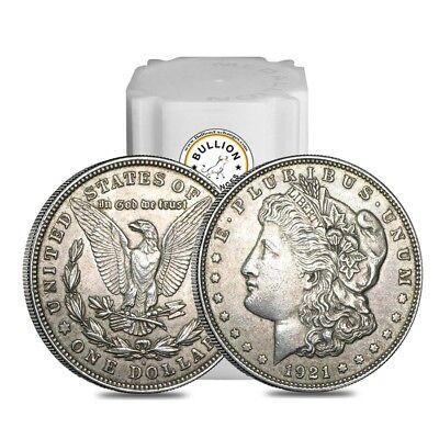 Roll of 20 - 1921 Silver Morgan Dollar VG-XF (Lot,Tube of 20)