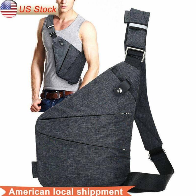 Men's Nylon Cross Body Bag Messenger Shoulder Book Bags Scho