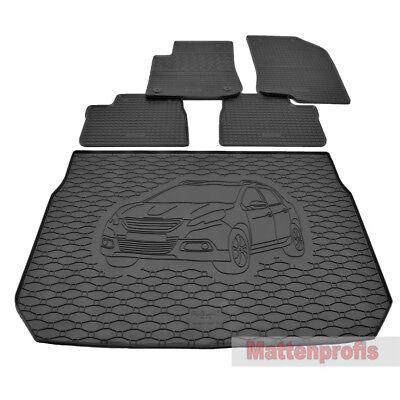 Kofferraumwanne Set für Peugeot 2008 ab 2014 3D Passform Gummi Fußmatten