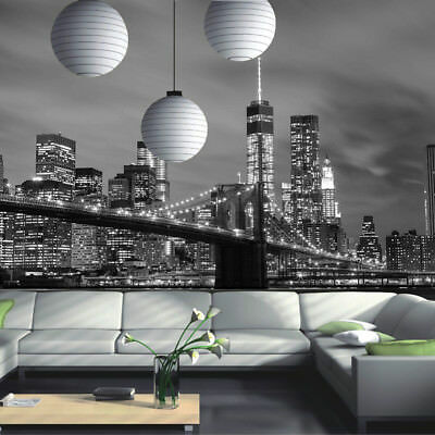 New York City Skyline Brooklyn Bridge Photo Wallpaper Wall Mural Room Decoration