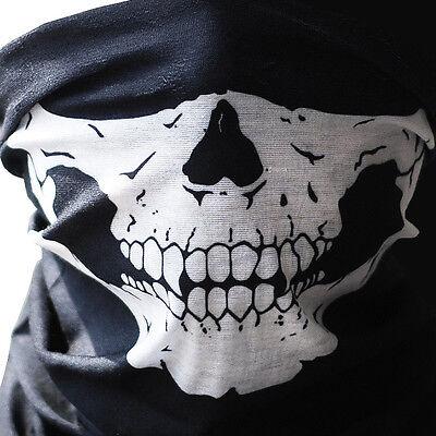 - Skull Bandana Mask Tube Scarf Skeleton Motorcycle Headband Ski Face Neck Jaw USA