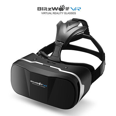 BlitzWolf 3D VR Glasses Virtual Reality Headset For 3.5-6.3 inch iPhone android