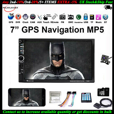 GPS 2 Din Touch Screen Car Radio+Camera DVR MP5 Player BT Mirror Link Navigation
