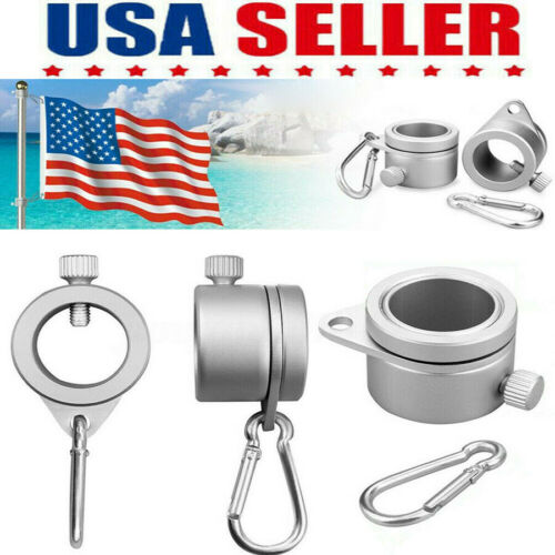 2Pcs Alloy Metal Flag Pole Mounting Ring Clip Rotating Flagpole Mounting Ring US Décor