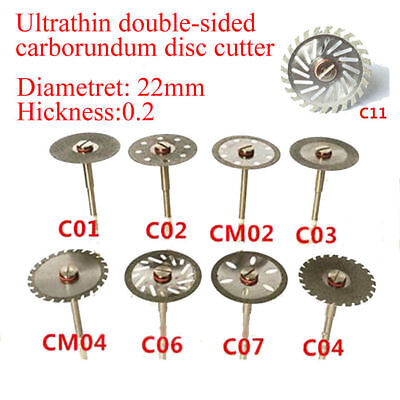 Dental Diamond Polishing Wheel Disc Cutter Solid Saw Cut Off Rotary Mandrel Tool
