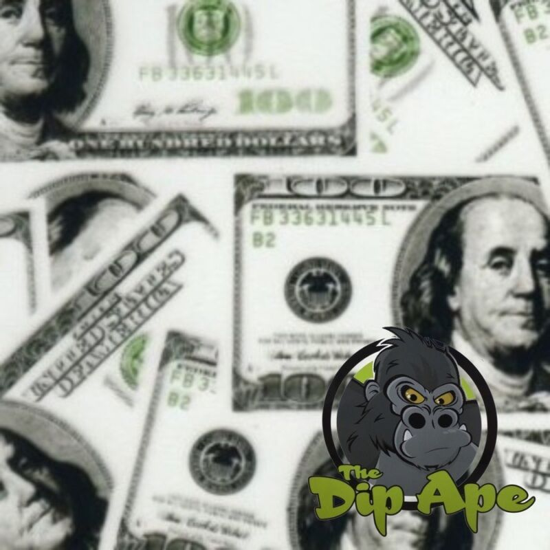 JUMBO $100 BILLS MONEY HYDROGRAPHIC WATER TRANSFER HYDRO FILM DIP APE