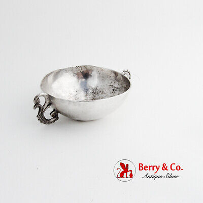 Spanish Colonial Silver Bleeding Cup Cast Handles Late 18th Early 19th Century