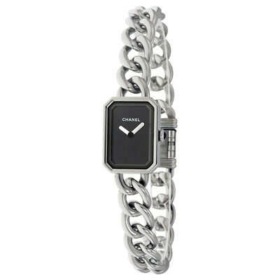 Chanel Premiere Black Dial Stainless Steel Ladies Watch H3248
