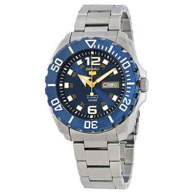 Seiko Series 5 Blue Dial Stainless Steel Men's Watch SRPB37