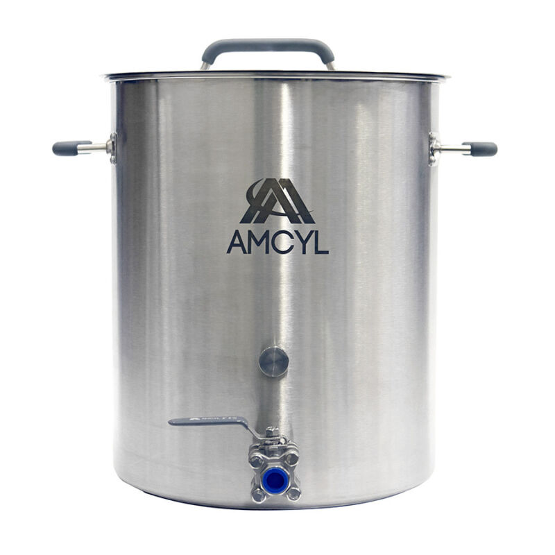 10 Gallon Stainless Steel Brew Kettle, Lid, Valve & Accessory Port - Ships Free!
