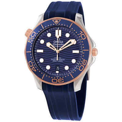 Omega Seamaster Diver Automatic Stainless Steel & 18kt Sedna Gold Blue Dial