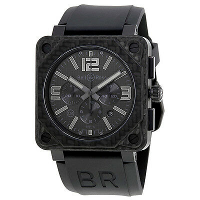 Bell and Ross Aviation Black Phantom Dial Mens Watch BR0194-CA-FIBER-PH