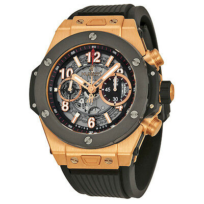 Hublot Big Bang Unico King Gold Ceramic Skeletal Dial Mens Watch 411.OM.1180.RX