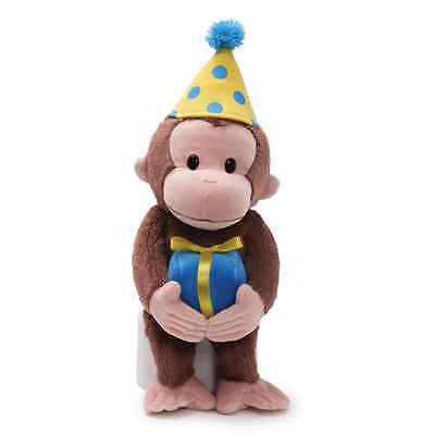"GUND RETIRED - MONKEY - 12""  CURIOUS GEORGE -  BIRTHDAY -   #4030390 - NWT"