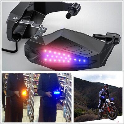 2 X Motorcycle ATV Handguard Baffle 12V LED With Light Guard Grip Protector Hood for sale  China