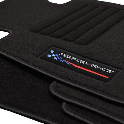 Velours blau Fußmatten passend für BMW 5er E60 E61 Limo Touring 03-10