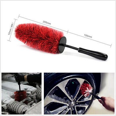 "Portable 18"" Length Car SUV Wheel Cleaning Brush Universal For Tires Rims Spokes"