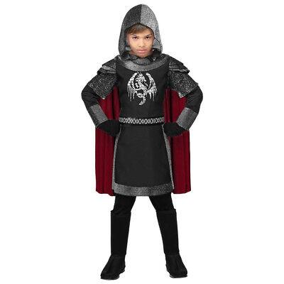 SCHWARZER RITTER KOSTÜM # Karneval Mittelalter Kinder Jungen MA Verkleidung (Kind Schwarze Ritter Kostüme)