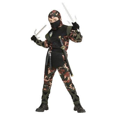 NINJA SOLDAT KOSTÜM MASKE KINDER Karneval Fasching Samurai Kämpfer Jungen # 7652