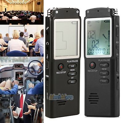8gb Voice Activated Rechargeable Digital Audio Recorder D...