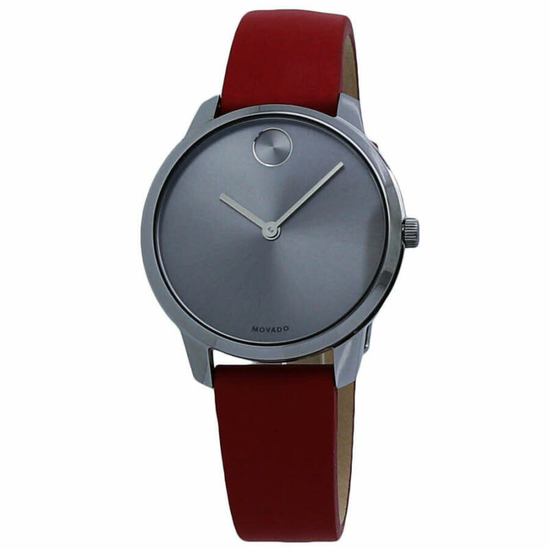 Movado-Bold-Grey-Dial-Red-Leather-Ladies-Watch-3600663