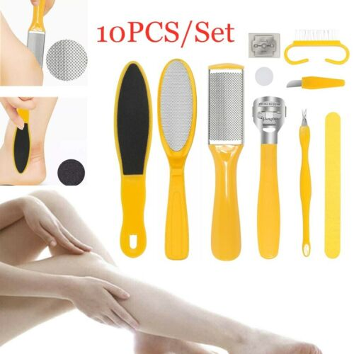 10PCS Pedicure Rasp Foot File Callus Remover Scraper Kit Pro