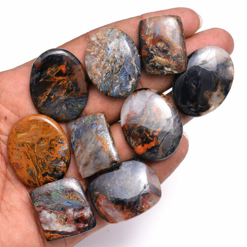 318 Cts 100% Natural Pietersite Untreated Cabochon Loose Gemstones Lot 25mm-34mm