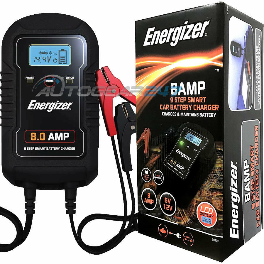 Trickle Charge and Maintain Battery Smart Fast Lead-Acid Battery Charger with LCD Display for Car Motorcycle That Will Constantly Monitor 12V 6A Fully Intelligent Car Battery Charger//Maintainer