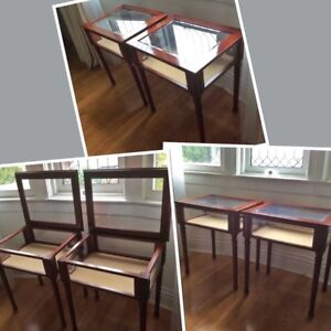 2 STUNNING Collectable 1990's Bombay solid wood Curio tables