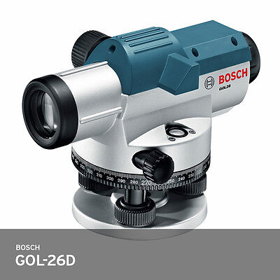 Bosch Gol 26d Auto Optical Level Outdoor Robust Survey Tool 26x 1.6mm 30m Ups