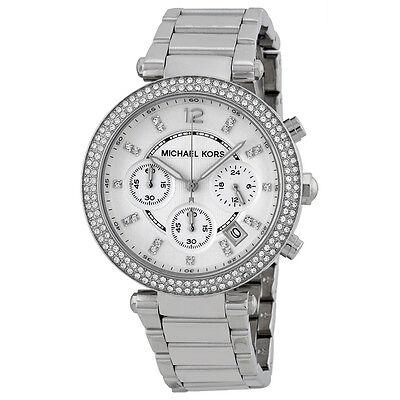 Michael Kors MK5353 Parker Wrist Watch for Women Silver, Chrono stainless steel