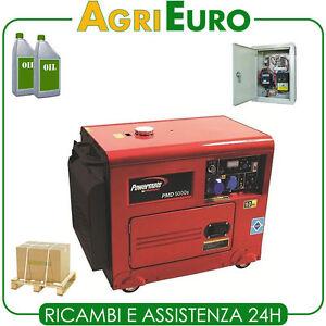 generatore di corrente diesel powermate pmd5000 con quadro