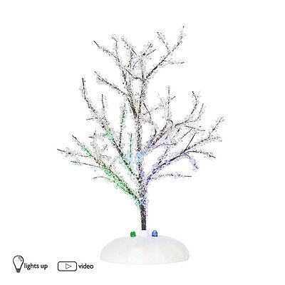 Dept 56 LIT CRYSTAL TREE 809347 D56 NEW Village Light Up Accessory Christmas