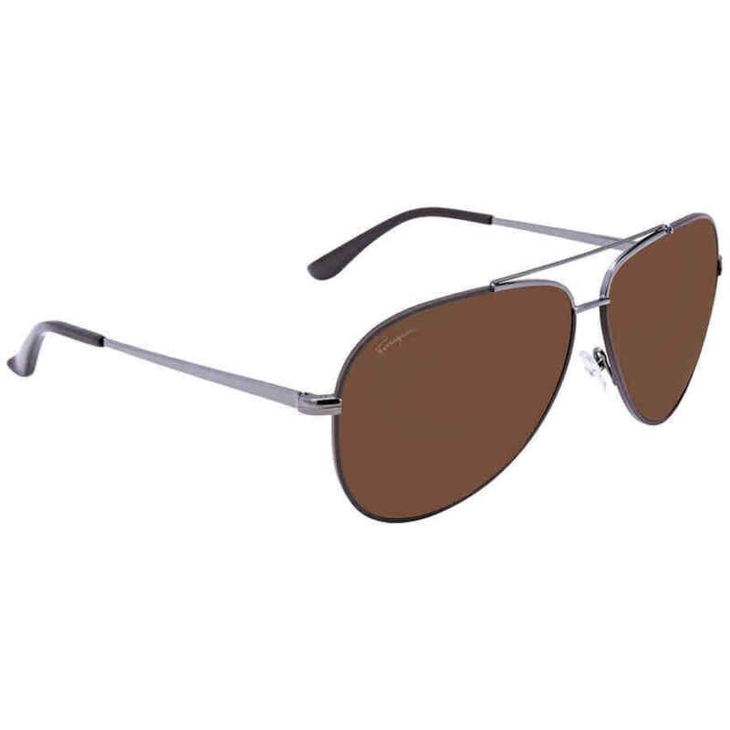 Ferragamo-Dark-Brown-Aviator-Sunglasses-SF131S-067-60-SF131S-067-60