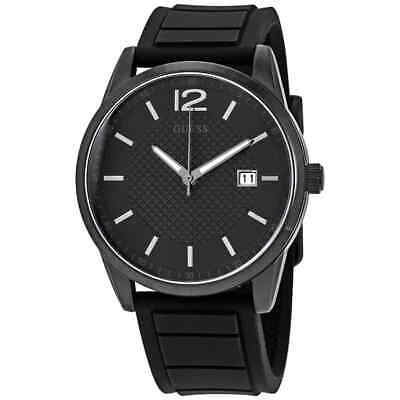 Guess Perry Black Dial Black Silicone Men's Watch W0991G3