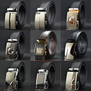 Whole-Sale-Mens-Automatic-Buckle-Genuine-Leather-Formal-POP-Waist-Strap-Belts