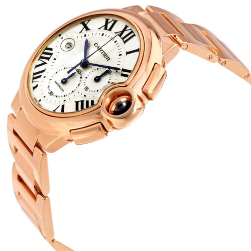 Cartier Ballon Bleu 18kt Rose Gold Chronograph Mens Watch W6920010