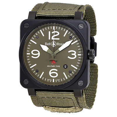 Bell and Ross Military Type GI Joe Edition Mens Watch BR03-92-S