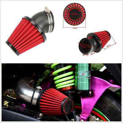 42MM RED MUSHROOM MOTORCYCLES AIR FILTER POD 45 ANGLED FOR SCOOTER ATV
