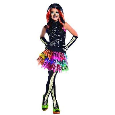 KINDER MONSTER HIGH SKELITA KOSTÜM & STRUMPFHOSE Halloween Mädchen Skelett (Mädchen Kostüm Monster High)