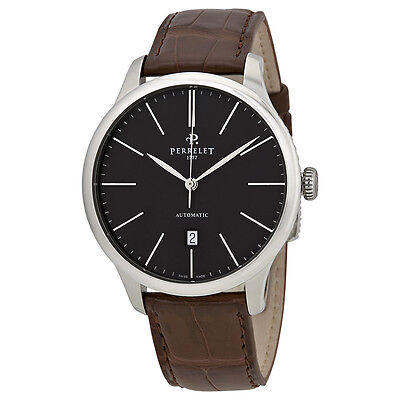 Perrelet First Class Automatic Anthracite Dial Mens Watch A1073/3