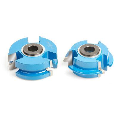 Amana Tool Sc453 2-pc Flooring Wnail Slot 2-58 D X 34 Bore Shaper Cutter Set