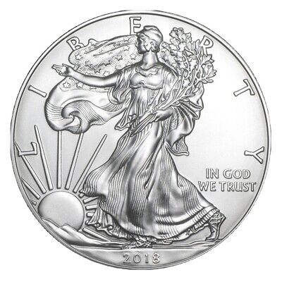 1 Roll - 20 Coins 2018 AMERICAN SILVER EAGLES