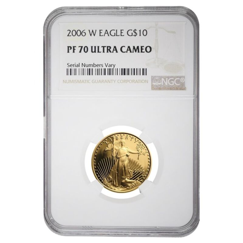 2006 W 1/4 oz $10 Proof Gold American Eagle NGC PF 70 UCAM