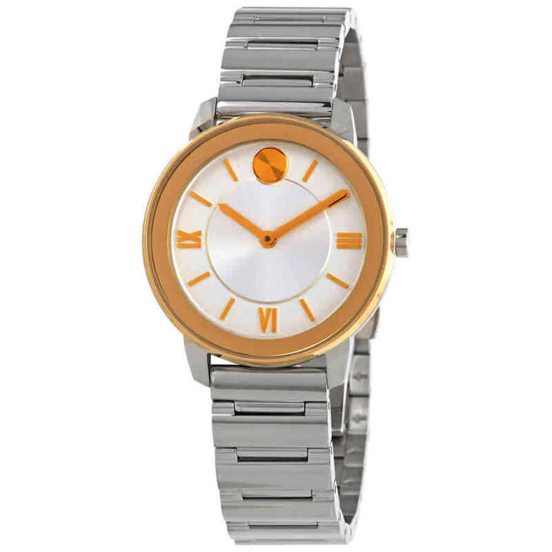 Movado-Bold-Silver-White-Dial-Ladies-Watch-3600592