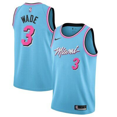 Mens Dwyane Wade Miami Heat Nike Infant 2019/20 City Edition Replica Jersey Blue Replica Miami Heat Jersey