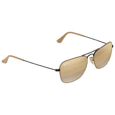 Ray Ban Caravan Yellow Gradient Mirror Square Men's Sunglasses (Ray Ban Caravan Brown)